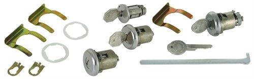 (RestoParts KK26234 Ignition Door & Trunk Lock Set 1961-1964 Pontiac Bonneville C)