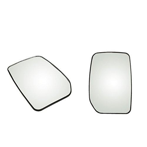 Homyl 2 Piezas De Vidrio Blanco Izquierdo + Retrovisor Derecho Espejo Retrovisor para Ford Transit 2000-2013