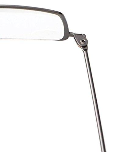 Eyekepper Lot de 5paires de lunettes de lecture demi-lune avec cadres en acier inoxydable 5 Pieces Bronze