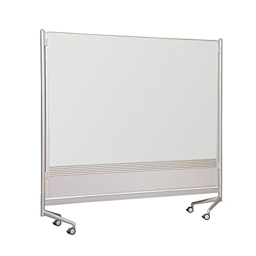 Balt Mobile Double Sided Divider Porcelain Steel Magnetic Markerboard Both Sides DOC Room Partition 6'H x 6'W electronic consumers by Brandz