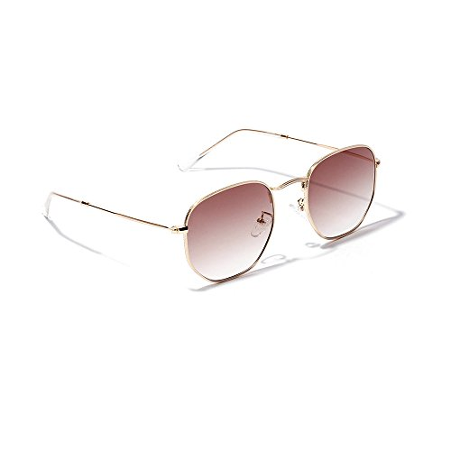 Sunglasses Brown Replica (Lemon Grass Women's Flash Light Brown Gradient Lens Sunglasses)