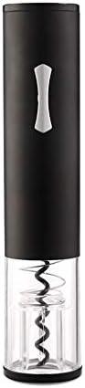 Sacacorchos de vino de alta gama Sacacorchos eléctrico Inalámbrico Abrebotellas automático Abridor de botellas de vino de acero inoxidable en cortador de papel de aluminio con luz (negro rosado) Sacac