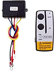 Wireless Winch Remote Control Kit,12V ATV Dump Trailer Control Wireless Remote Wireless Winch Control Towing System Switch Winch Set Off-Road for Car/Boat/Truck/Jeep