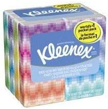 Set of 2 10 Sheets per Pack//8 Packs Professional Kleenex Facial Pocket 3-Ply Tissue