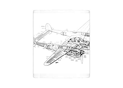 Amazon.com: Mug of Lockheed P38 Lightning Cutaway Drawing (1569069