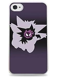 Gengar Evolution Ghastly Haunter Pokemon Apple iPhone 6 Plus (5.5 inch) i6+ Hard Case - White- 420