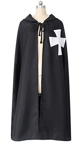 KAMA BRIDAL Men Medieval Templar Cloak Knight Costume Robe Hospitaller Tunic M