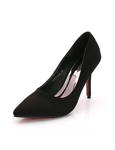 GGX/Damen Schuhe Suede Fall Heels/spitz Zehen/geschlossen Zehen Clogs & Pantoletten Kleid Stiletto Ferse andere schwarz/rot/grau gray-us7.5 / eu38 / uk5.5 / cn38