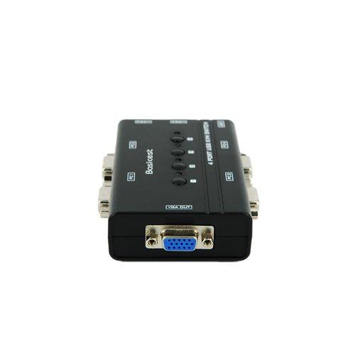 Basicest® BAS2151 Freedom 4 Ports Electronic VGA Switch Box KVM Switch Manual USB KVM by Basicest (Image #3)'