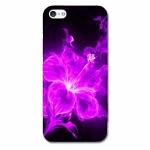 Coque Iphone 5c fleurs - - hibiscus violet -