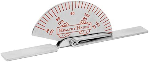 BH SUPPLIES Healthy Hands Stainless Steel Finger Joint Goniometer – Measure Range of Motion – Small 3.5 inches
