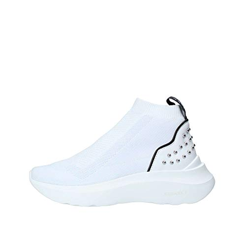 Cesare P. By Paciotti ,Sneakers a calza, Bianco - Womens Cesare Paciotti Shoes