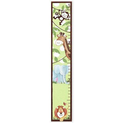 The Kids Room by Stupell Whimsical Jungle Growth (Play Canvas Growth Chart)