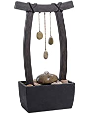 Kenroy Home Casual Indoor/Outdoor Table Fountain,21.5 Inch Height, 11.5 Inch Width, 6 Inch Ext. with Wood Grain Finish (51047WDG)