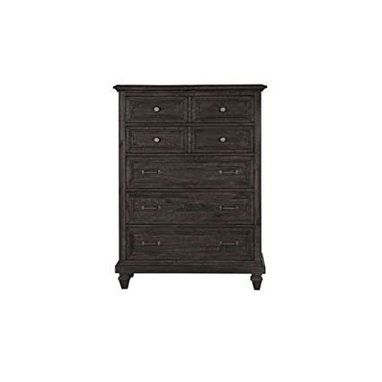 Brilliant Magnussen Calistoga 5 Drawer Chest In Weathered Charcoal Machost Co Dining Chair Design Ideas Machostcouk