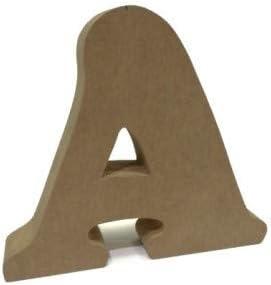 Letras Grandes de madera DM de 20x20x4cm Abecedario completo Letras ideal para decoraci/ón y manualidades Letras de Madera Hechas a Mano /&