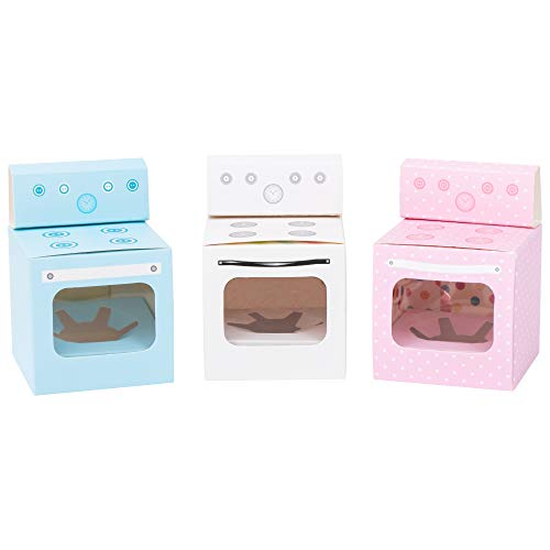 Bun in the Oven Cupcake Boxes for Baby Shower Favor, Boy Girl Gender Reveal Party (10pcs, -