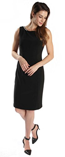 Joseph Ribkoff Black Open Back with Jewel Chain Accent Dress Style 171009 - Size 6 by Joseph Ribkoff (Image #1)