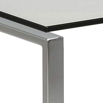 mesas de centro de vidrio y acero