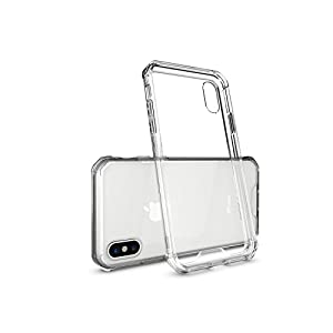 iPhone X Case, Crystal Clear Shock Absorption Technology Bumper Transparent TPU+Acrylic Cover vase for iPhone X- Clear
