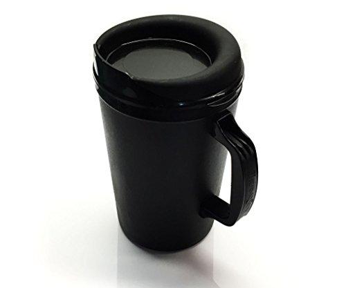 - 34 Oz ThermoServ Foam Insulated Coffee Mugs - Black