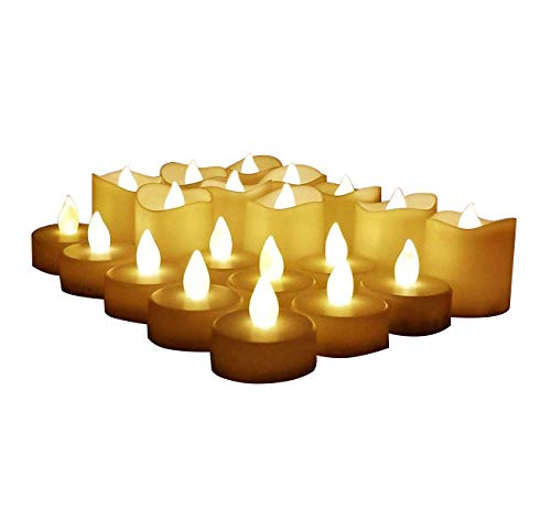 Flameless Candles, LED Tea Light Candles with Battery Operated for Wedding Party Festival Decoration Electric Tealight Candle, 20 Pack