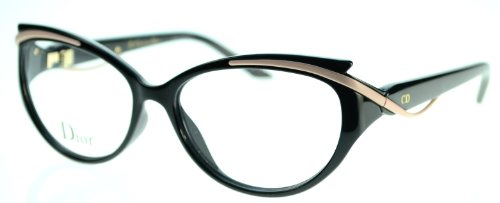 DIOR Eyeglasses 3278 09Oe Black Matte Pink - Glasses Cateye Dior