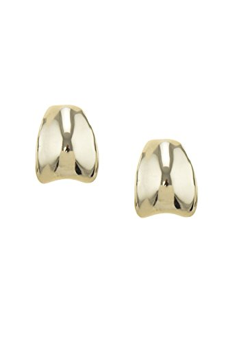 Monet Dangling Earrings (TRENDY FASHION JEWELRY CRUVED SEMI HOOP STUD EARRINGS BY FASHION DESTINATION | (Gold))