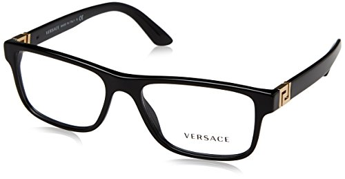 MEN VERSACE EYEGLASSES VE3211 GB1 Black Frame - Glasses Versace