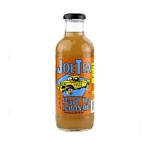 Joe Tea Half Peach Tea & Half Lemonade Organic Tea- 20 oz. (12 Bottles) - Natural Bottled Healthy Tea - Summer's Best Iced Tea - Non-GMO