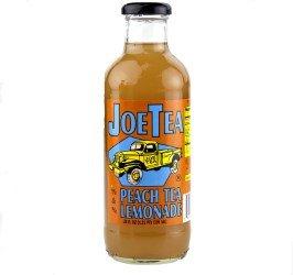Joe Tea Half Peach Tea & Half Lemonade Organic Tea- 20 oz. (12 Bottles) - Natural Bottled Healthy Tea - Summer's Best Iced Tea - Non-GMO