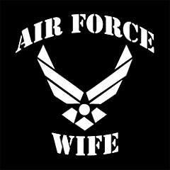 Air Force Wife Military Wife USAF Vinyl Decal Sticker WHITE Cars Trucks VansSUV Laptops Wall Art 5