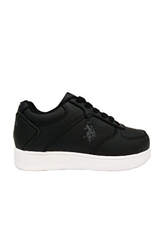 Mens USPA Logo Print Laced Up Casual Sneakers Shoes JAYSONL Black ZSH59ZX