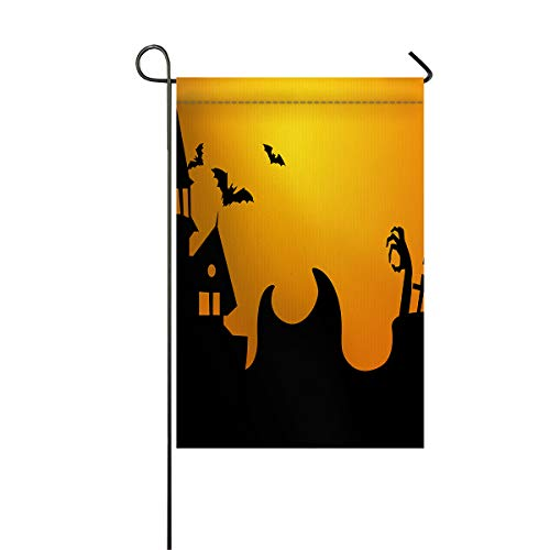 BABE MAPS Garden Flag Double Sided Halloween Theme Yard Decor, Weather-Proof and Double Stitched Outdoor Decorative, 12