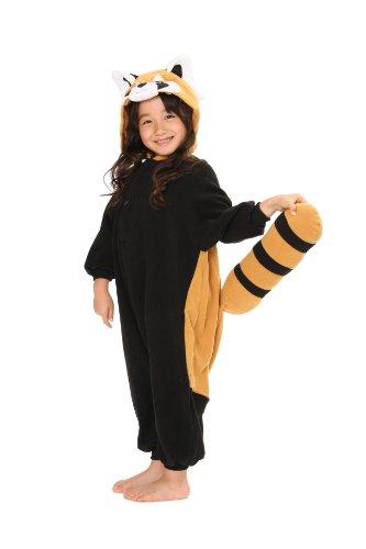 [Red Panda Kids Kigurumi (2-5 Years)] (Red Panda Tail Costume)