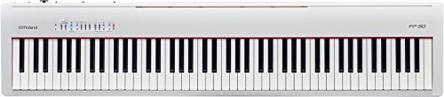 Roland 88-Note Portable Digital Piano, White (FP-30-WH) from Roland