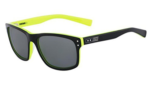 Nike EV0632-007 Vintage MDL 80 Sunglasses (One Size), Black/Volt, Grey with Silver Flash - Vintage Nike Sunglasses