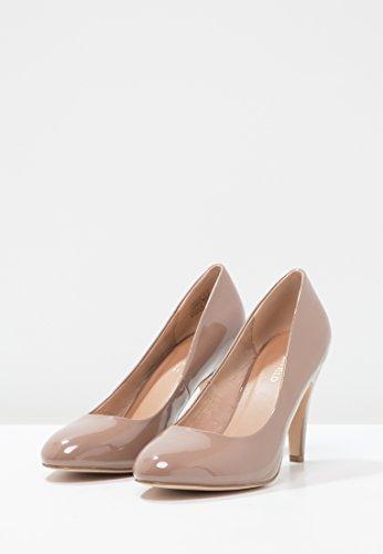Talons à Chaussures Nude à Ronds Femme Confortables Pour Femmes Femmes Blanc en Soirée Chaussures Bouts Field Talons de Gris Noir Anna Escarpins Élégantes à Pour Nude Ou qxaORR