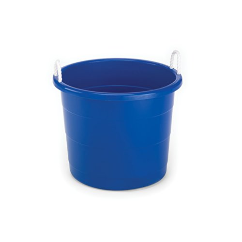 (Homz Rope Handle Tub, 17 Gallon, Blue, Set of 8)