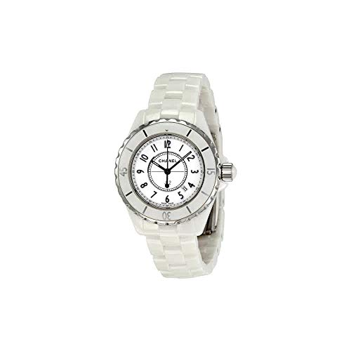 Chanel Women's H0968 J12 White Ceramic Bracelet Watch (Necklace Logo Chanel)