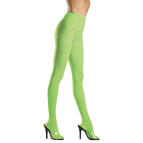 Plus Opaque Green Nylon Pantyhose