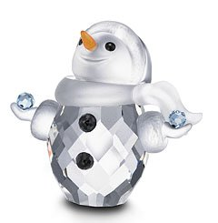 cf583b555 Amazon.com: Swarovski Crystal Figurine #624572, Little Snowman: Home ...