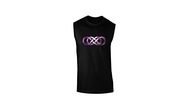 TooLoud Double Infinity Gold Dark Loose Tank Top