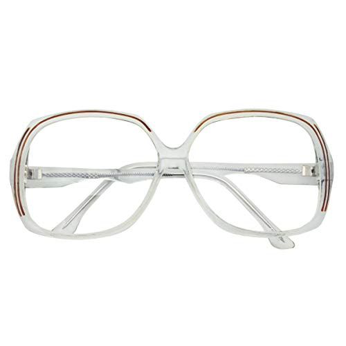 Womens Large Square Clear Lens Glasses - Nerd Non-Prescription Costume Fashion -