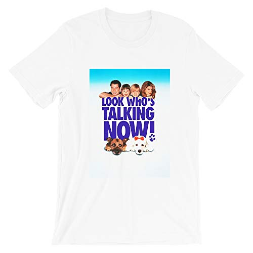 Look Who's Talking Now John Travolta Amy Heckerling 80s Movies Cinema Film Gift Mens Womens Unisex T-Shirt (White-4XL)