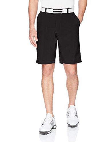 Jack Nicklaus Men's Flat Front Solid Active Flex Short with Media Pocket, Caviar, 34