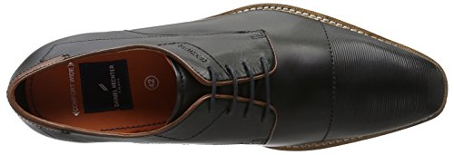 Daniel Hechter 811228061000, Zapatos de Cordones Derby para Hombre Schwarz (Schwarz)