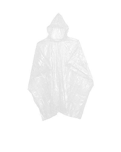Sara Glove Emergency Clear Rain Ponchos - Lightweight & Disposable Case of -