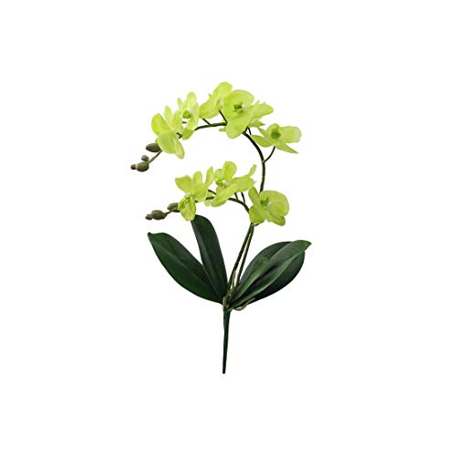 First Ring-Artificial Flowers Real Touch Latex 2 Branch Orchid Flowers with Leaves Wedding Decoration Flores,A