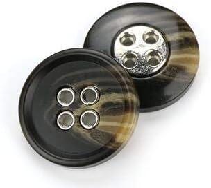 RTYW ヴィンテージ樹脂丸ヒラタブラックのボタン服手作りDIYコート衣類縫製工芸品装飾の2/4の穴 (Color : R, Size : 18MM 10PCS)